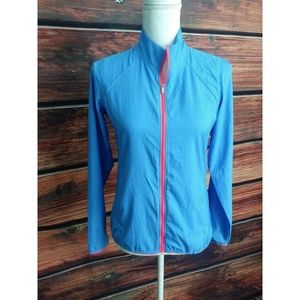 Adidas Woman's Blue Light Weight Stretch Jacket XS